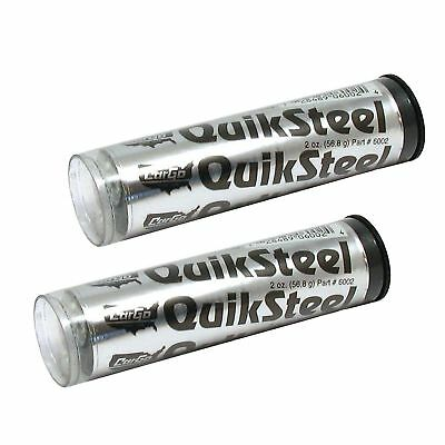 2 x Cargo Quiksteel Quicksteel Steel Reinforced Epoxy Putty Metal Repair Weld