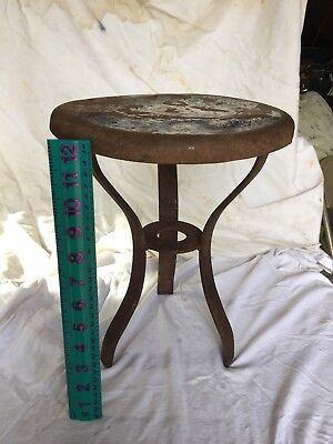 Vintage steel three leg milk stool