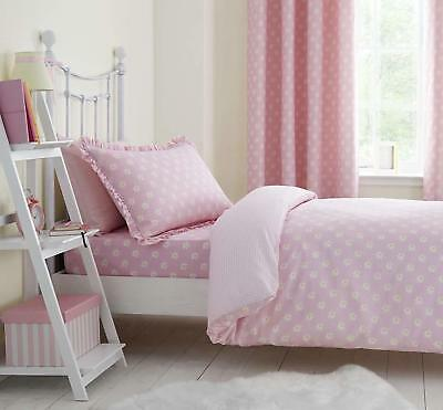 Pink Pretty Daisies Single Fitted Sheet Elegant And Charming Dreamer Collection