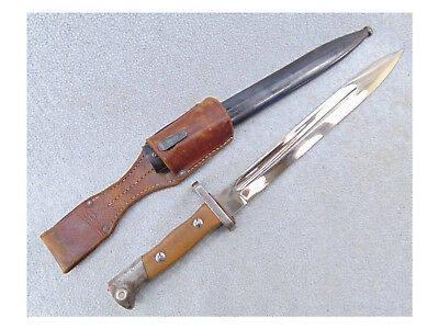 German S71 84 Dress Bayonet Mauser Rifle Scabbard Wwi Leather Frog 1871 1884