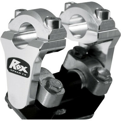 "Rox Speed FX 2"" Pivoting Bar Risers for 7/8"" Handlebars - 1R-P2SSN - Silver"