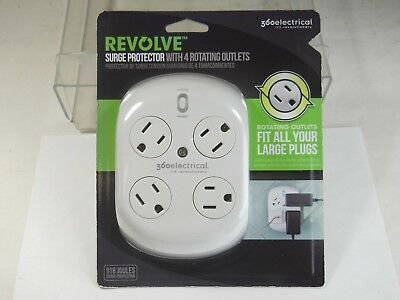 360 Electrical Revolve Surge Protector w/ 4 Rotating outlets (NOS)(QTY 1ea)A04-2