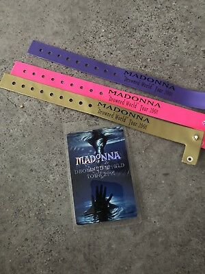 Madonna Drowned World Tour VIP Laminate & Wristbands - Rebel Heart Erotica Dita