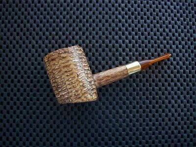 Missouri Meerschaum Corn Cob Tobacco Pipe 5th. Avenue Diplomat Poker Amber Stem
