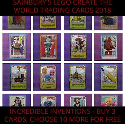 Sainsbury's Lego Create the World Trading Cards - 2018 Incredible Inventions