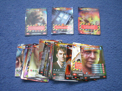 Lot Dr Who Battles Cards Ultra Super Rare Tardis Werewolf Dalek