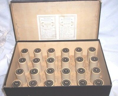 Early Edison Columbia Cylinder Phonograph Record Holder , Double Style Holds 24