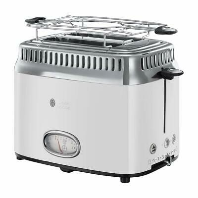RUSSELL HOBBS Toaster Retro Classic Blanc 21683-56 1300W Countdown-Anzeige weiss