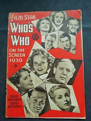 Film Star Who's Who On The Screen 1939 1200 Photographs & Biographies