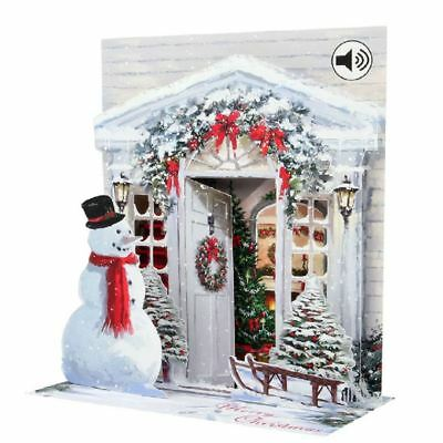 Pop-Up Sight 'n Sound Christmas Card by Popshots Studios - Holiday Door
