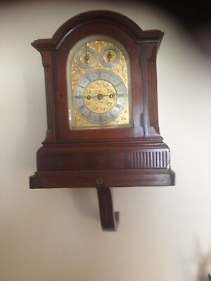 Antique Double Fusee Circa 1890 Bracket Clock With Bracket