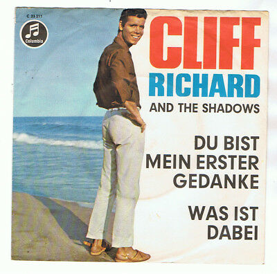 "Cliff Richard And The  Shadows 7"" Single Du Bist Mein Erster Gedanke"