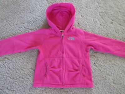 The North Face Polartec Zip Up Hooded Jacket Toddlers Size 3T