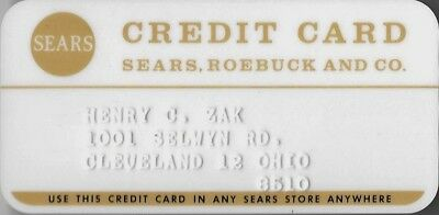 Vintage late 60's early 70's  Sears Roebuck and Co credit card