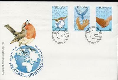Isle of Man 1986 Chritsmas stamps FDC