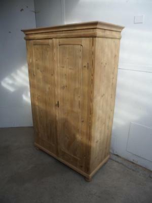 A Large Antique/Old Pine 2 Door Multi Functional Storage Cupboard to Wax/Paint