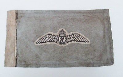 WW2 RAF Spitfire Pilots Wings Car Pennant / Kit Bag Flag Battle of Britain 1940