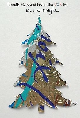 Tree Christmas Tree Ornament Handmade Recycled Aluminum Metal Coconut Water Can