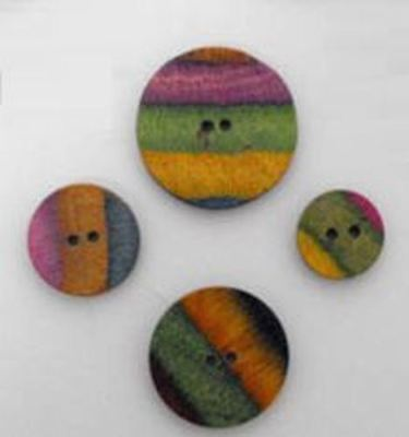 KnitPro Symfonie Wood Button - Flat Round Button