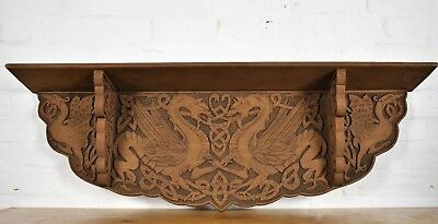 Outstanding Antique Wall Shelf With Beautifully Carved Celtic Dragons Bralicious Painted Fabric Chair Ideas Braliciousco