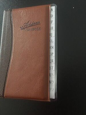 """Address Book Phone Book 4""""h x 3""""w x 1/4""""t with alphabet letters - Pocket size"""