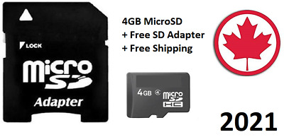 SanDisk 4GB Micro SD Card TF Flash Memory MicroSD Free Adapter