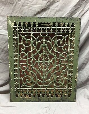 Large Antique Cast Iron Victorian Heat Grate Floor Register 16x20 Vtg 204-18C