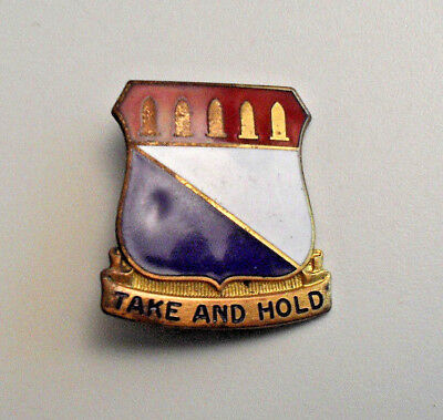 Rare Wwii Di 195Th Inf. Rgt. Later 941St Armored F.a. Robbins Pin Back