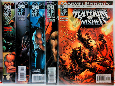 WOLVERINE PUNISHER (2004) #1 2 3 4 5 COMPLETE SERIES Marvel Knights NM/NM+