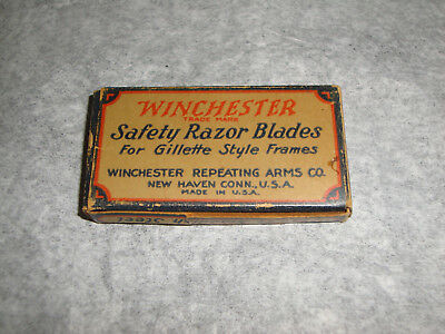 Full Box Of Winchester Safety Razor Blades For Gillette Style Frames