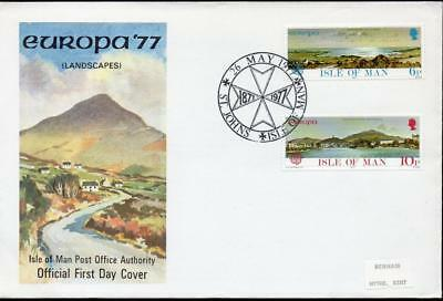 Isle of Man 1977 EUROPA Stamps - Landscapes FDC
