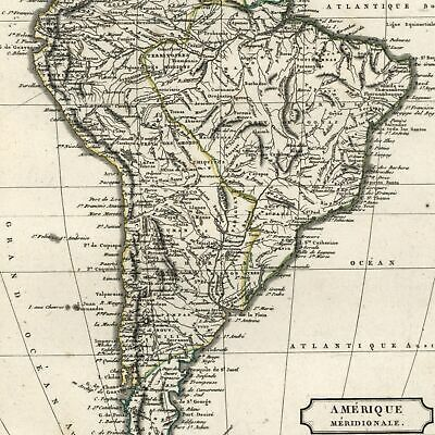 South America continent 1804 Tardieu scarce old map