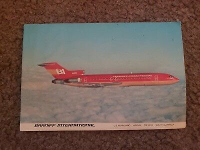 Braniff International Airlines Postcard...727 Super Jet