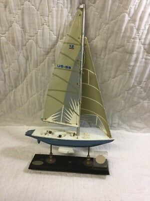 Vintage Dennis Conner Stars & Stripes America's Cup 1987 Sailboat & Sail Relic