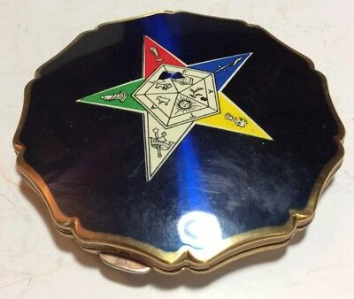 Vintage STRATTON Order of the Eastern Star Masonic Powder Compact ENGLAND