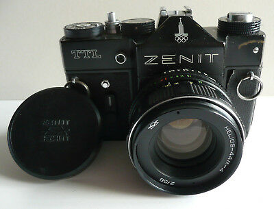 ZENIT TTL  35mm CAMERA.   MOSCOW OLYMPICS EDITION.