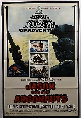 JASON AND ARGONAUTS Movie Poster (Fine+)  One Sheet 1963 Todd Armstrong 882