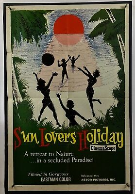 SUN LOVERS HOLIDAY Movie Poster (Fine-)  One Sheet 1962 Rated X 1128