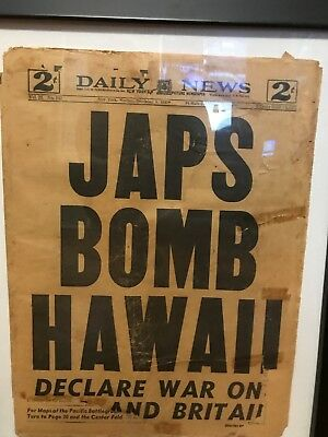 N.Y. Daily News December 8th, 1941