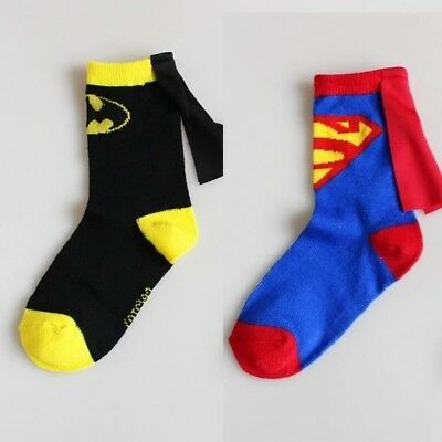 Brand new boys age 2-3years Batman and Superman socks (2 pairs)