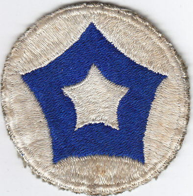 Original WWII US Army Patch - 5th Service Command - Reversed Colors - FE