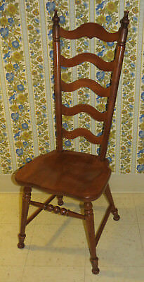 tell city chair co hard rock maple tall ladderback dining room
