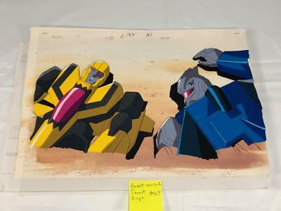 TRANSFORMERS JAPANESE BEAST WARS 2 THRUST DIRGE ANIMATION ART CELL cel LOT 187