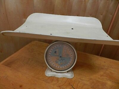 Vintage Scale,  Infant Scale, Ounce and Pounds, Unmarked,