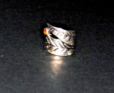 Woman's Size 4 1/2 Sterling Silver Fashion Ring With A Small Center  Stone