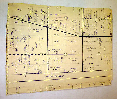 1960s Canaan Township, Madison County, Ohio land map; fold out 28x27