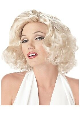 Blonde Marilyn Monroe Wig Short Curly Synthetic Wig Halloween Costume Props