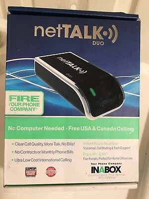 NetTalk Duo BUNDLE Home Phone Line Replacement Local & Long Distance VOIP Device