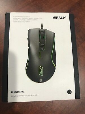 HIRALIY F300 Gaming Mouse Wired RGB Backlit 9 Programmable Buttons 5000 DPI...