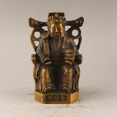 Old China  handmade bronze Lucky mammon Statues Decoration